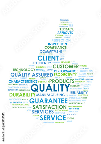QUALITY Tag Cloud (thumbs up service satisfaction garantee)