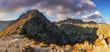Mountain panorama at spring in slovakia - Solisko - Tatras