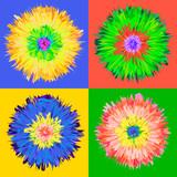 Fototapety Pop art flower, vector Eps 10 illustration.