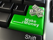 3d keyboard enter button with money
