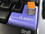 3d learn key - e-learning concept