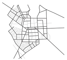 map  of city - vector scheme of roads