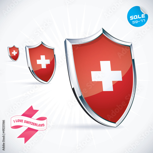 I Love Switzerland Flag Illustration, Sign, Symbol