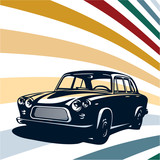 Retro car background