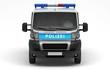 Einsatzfahrzeug der Polizei (Front)