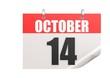 Calendar October 14
