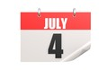Calendar July 4