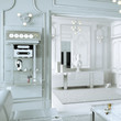 Klassical Salon in neutral white (detail)