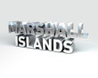 3D Country Text of MARSHALL ISLANDS