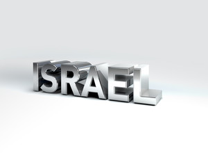 3D Country Text of ISRAEL