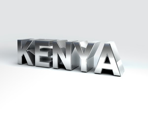 3D Country Text of KENYA