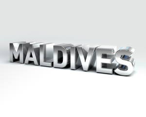3D Country Text of MALDIVES