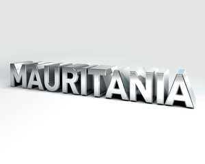 3D Country Text of MAURITANIA
