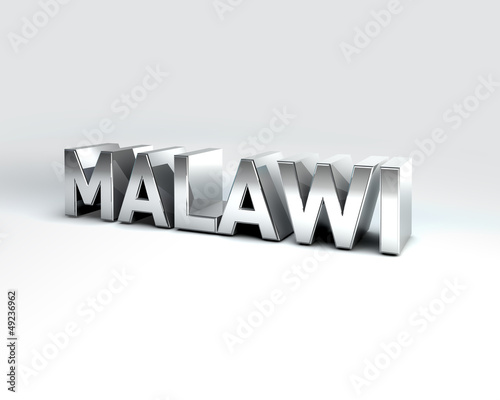 3D Country Text of MALAWI