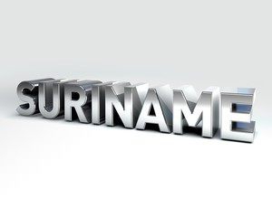 3D Country Text of SURINAME