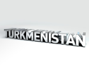 3D Country Text of TURKMENISTAN