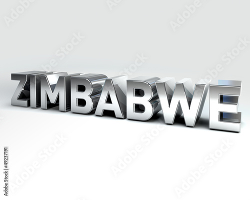 3D Country Text of ZIMBABWE
