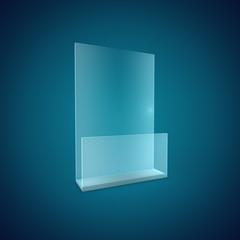 Blank Brochure Glass Holder