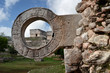 stone ring for ball games in Uxmal, Yucatan
