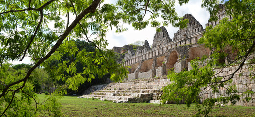 House of the Pigeons in the Maya city of Uxmal, Yucatan