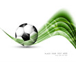 abstract football colorful green wave vector