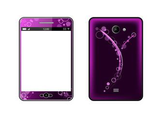 Phablet violet [smartphone et tablette] - AV et AR - Téléphonie