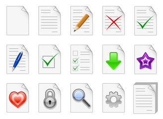 File management and administration icons