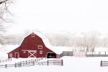 """Постер, картина, фотообои """"Red barn"""""""