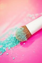 blue eyeshadow and brush macro
