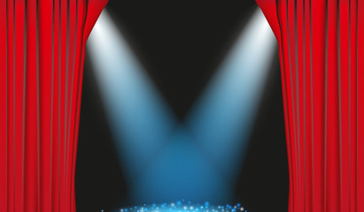 Curtain Lights Vector