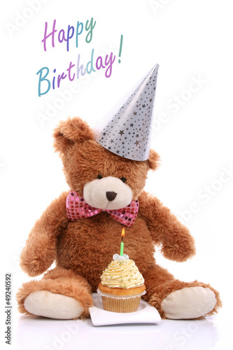 Teddy bear celebrates first birthday
