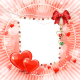 Beautiful valentine's day banner with abstract hearts