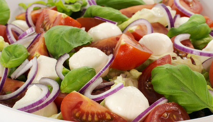 salad with tomato and red onion