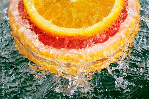 Fototapeten,wasser,orange,pampelmusen,zitrusgewächs