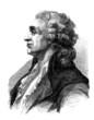 Gentleman - end 18th century (Portrait - Profil)
