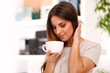 Young beautiful woman with cup