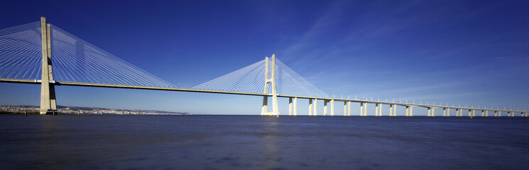 panoramic view of famous Vasco da Gama bridge