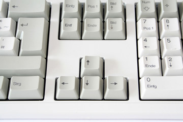 Pfeiltasten einer Tastatur