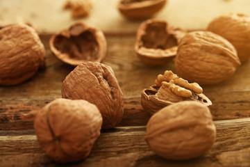 Closeup image of walnuts