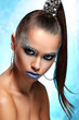 Portrait of woman with artistic make-up