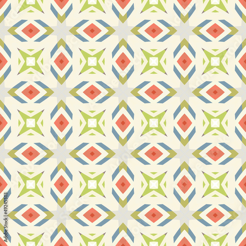 Design for seamless tiles with geometric lines and squares