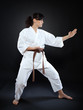 Karate woman in pose