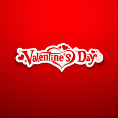 Happy Valentine's Day lettering on red background