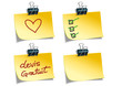 Post-it avec messages