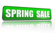 spring sale green banner