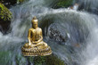 sitting buddha in flowing water