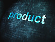 Advertising concept: Product on digital background