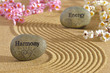 zen garden with harmony and energy
