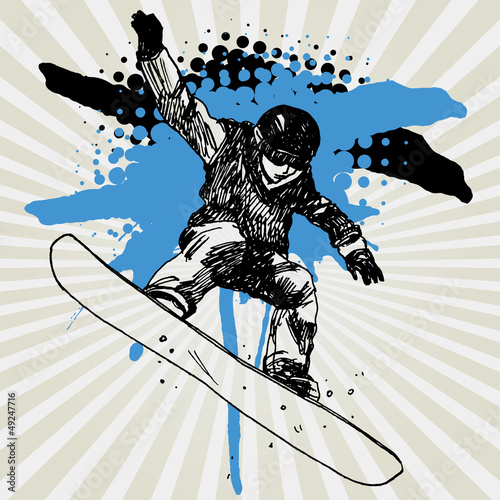 Sketch of Snowboarder