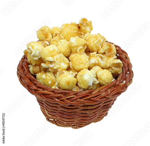 Carmel Popcorn Wicker Basket
